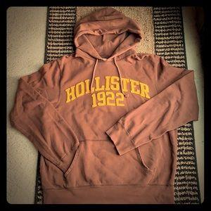 Hollister men's medium brown hooded sweatshirt
